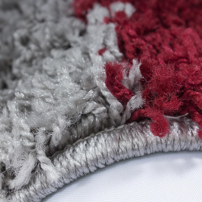 tapis shaggy longues m ches rouge gris cream hautes carreaux pas cher. Black Bedroom Furniture Sets. Home Design Ideas