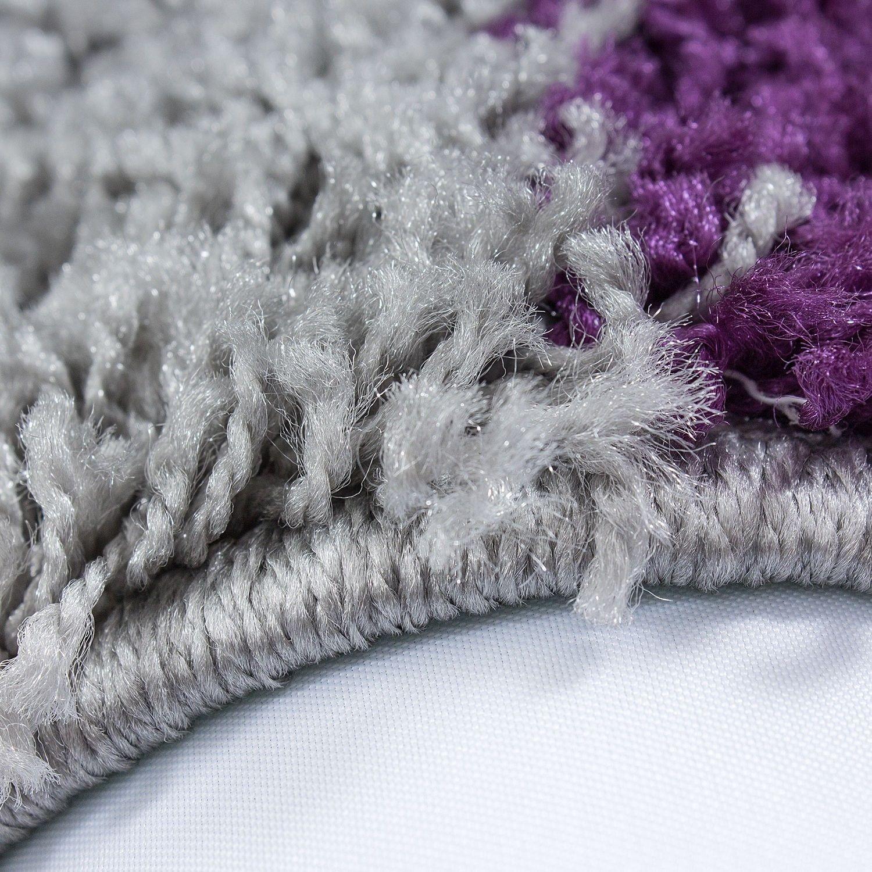 Tapis shaggy longues m ches violette gris cream hautes carreaux pas cher - Meche a tresser pas cher ...