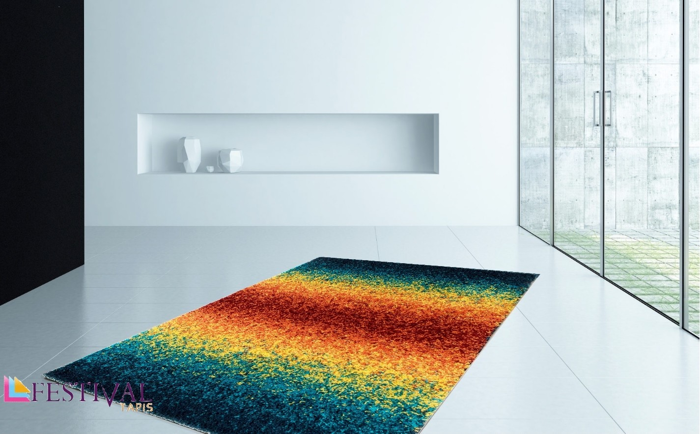 tapis rayures multicolores tapis boules multicolores tapis salon multicolore tapis laine multicolore - Tapis Multicolore