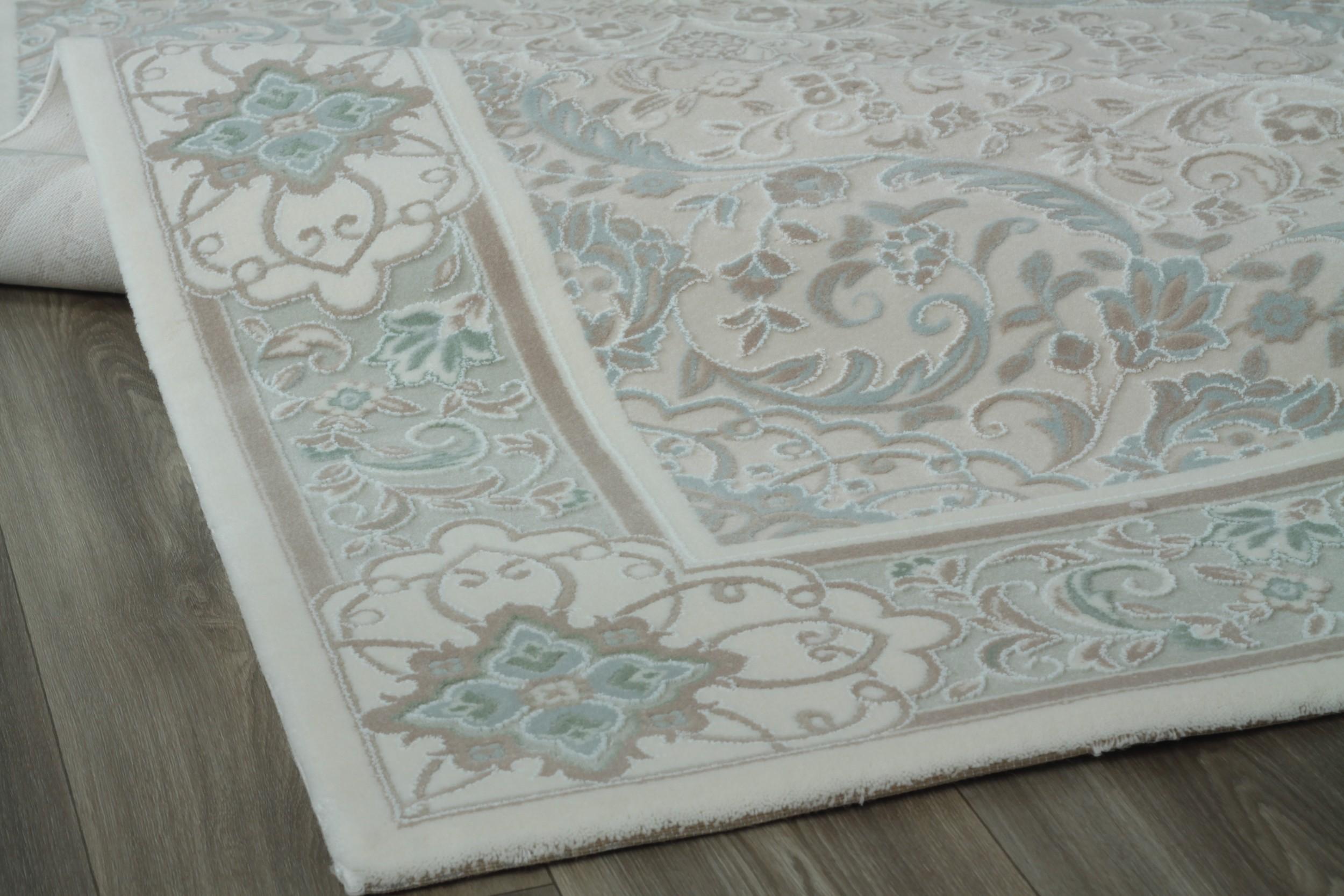 tapis en acrylique style baroque avec cr me prada. Black Bedroom Furniture Sets. Home Design Ideas