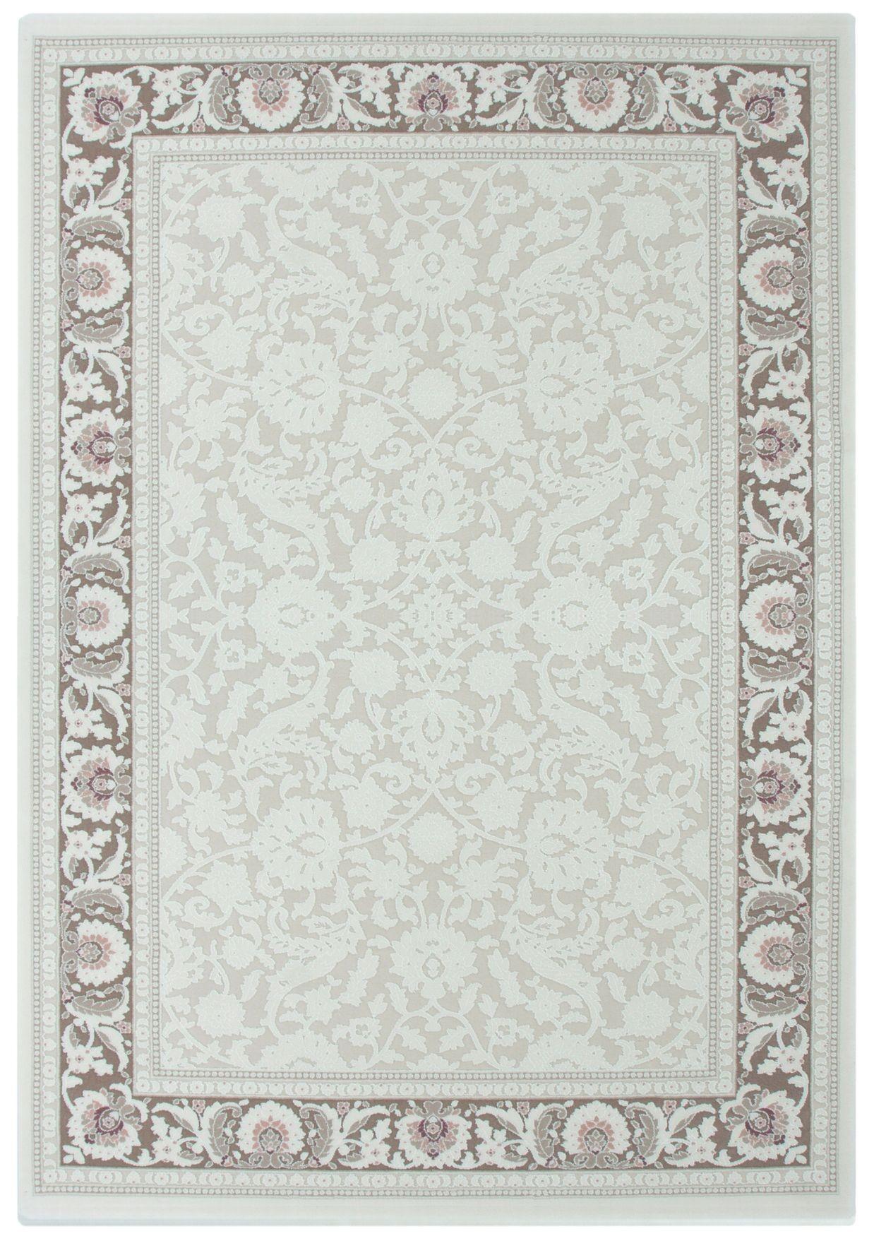 tapis en acrylique style baroque avec cr me taupe prada 2. Black Bedroom Furniture Sets. Home Design Ideas