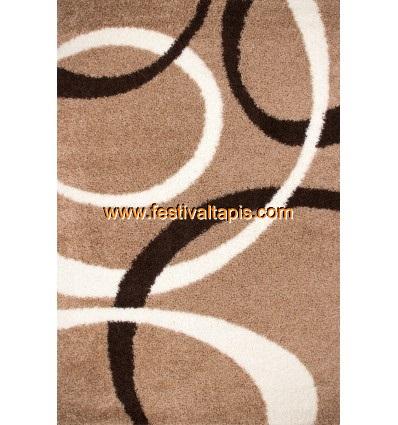 Tapis Shaggy avec motif coloris beige tapis en laine, tapis laine pas cher, tapis laine moderne, tapis en laine pas cher, tapis