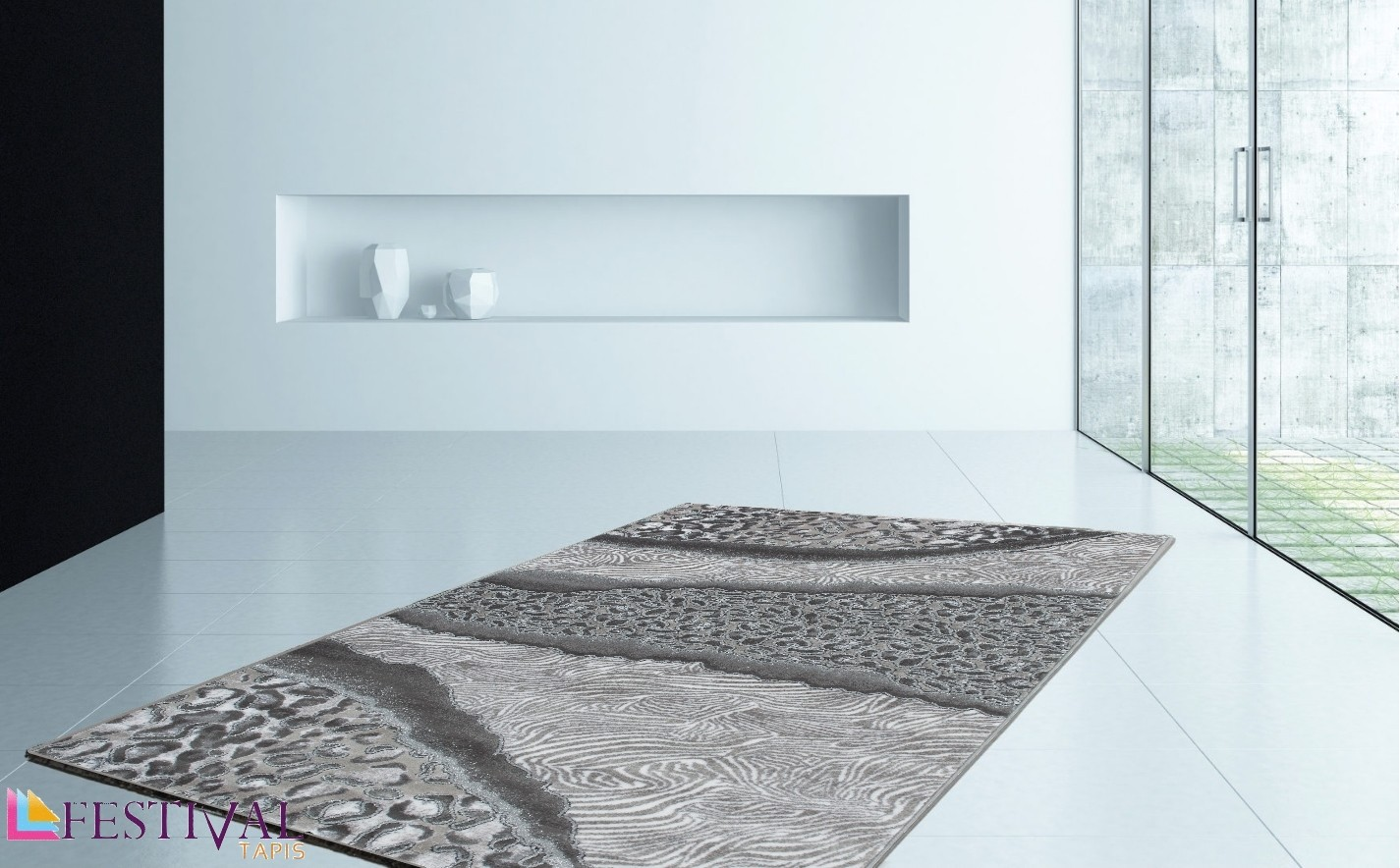 tapis de salon design en acrylique moderne nevio 4. Black Bedroom Furniture Sets. Home Design Ideas