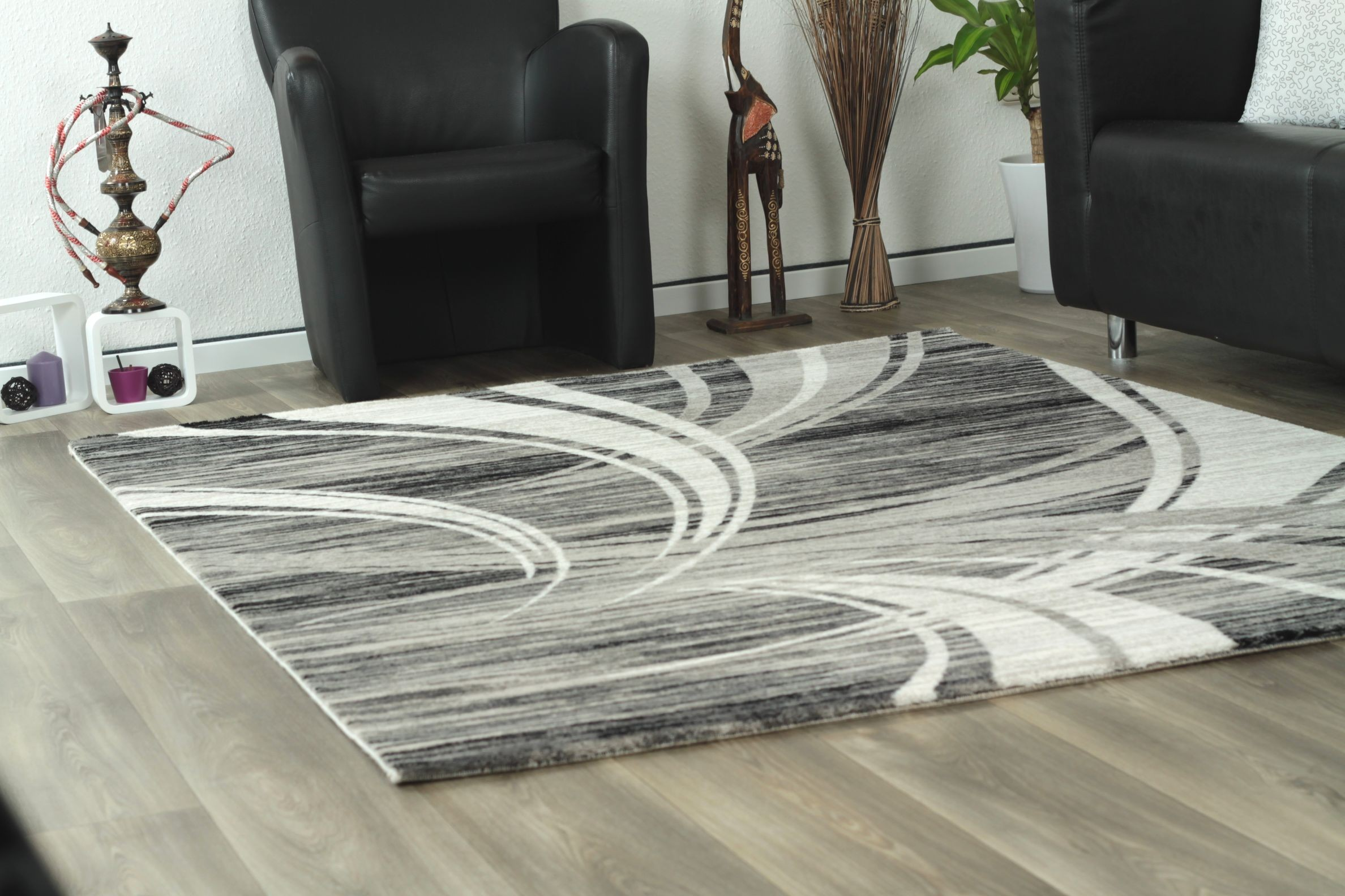Tapis de salon design en acrylique moderne nevio 5 - Tapis de salon but ...