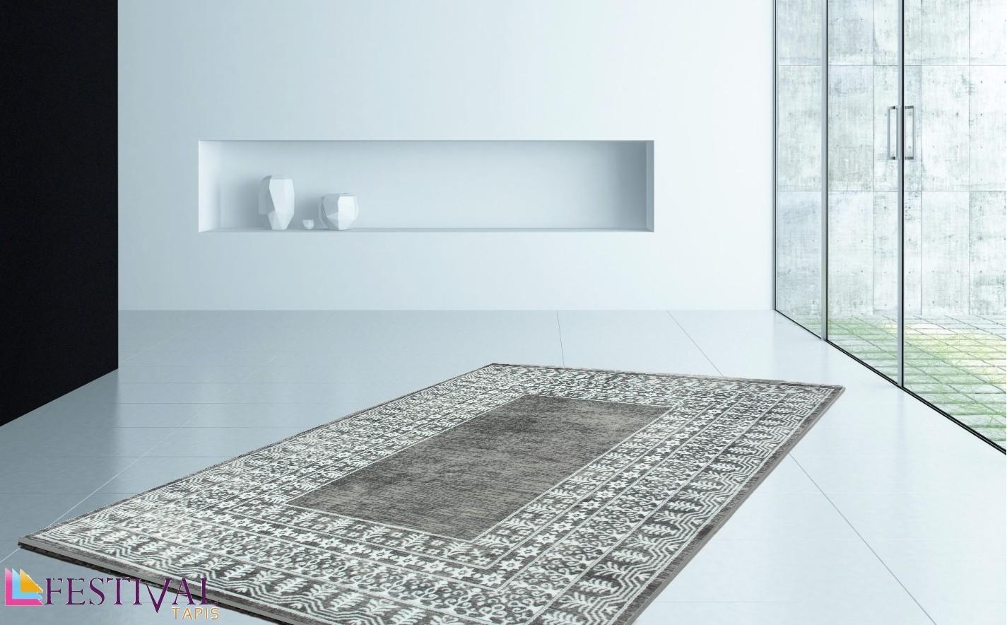 Tapis de salon design en acrylique moderne nevio 10 - Tapis de salon design ...
