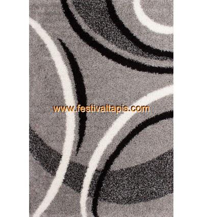 Tapis Shaggy avec motif coloris gris tapis en laine, tapis laine pas cher, tapis laine moderne, tapis en laine pas cher, tapis d