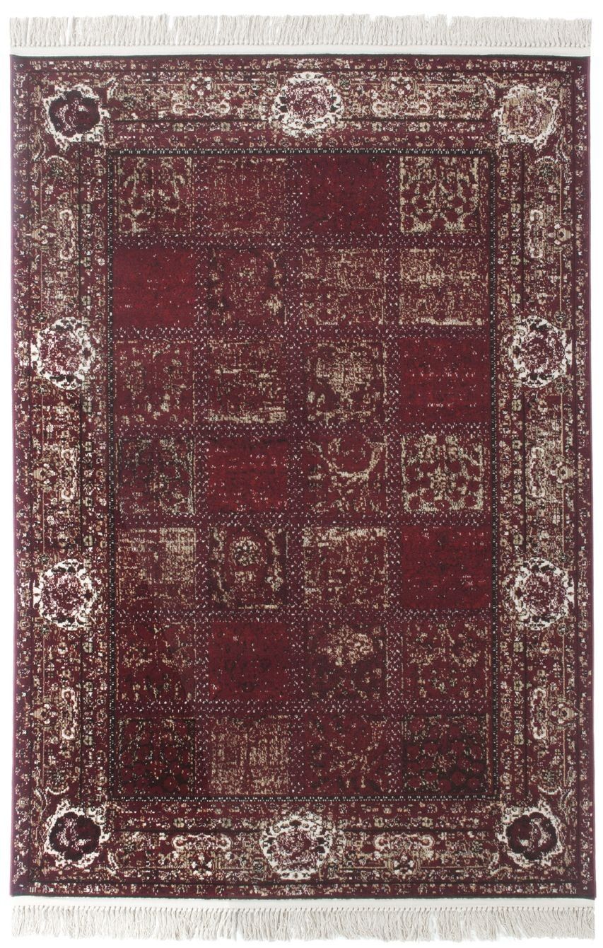 Connu Tapis rouge rectangulaire style oriental ANTONIA SP34