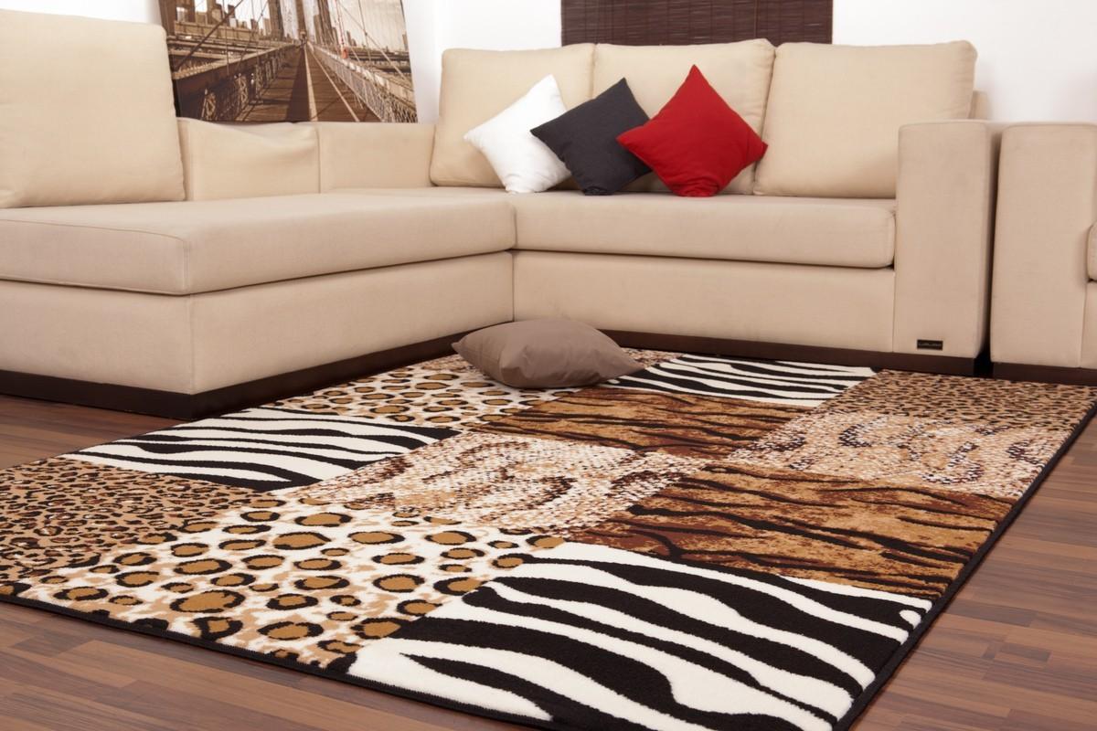 tapis contemporain de couleur beige et aux motifs grand tapis pas cher tapis grande taille - Tapis Grande Taille