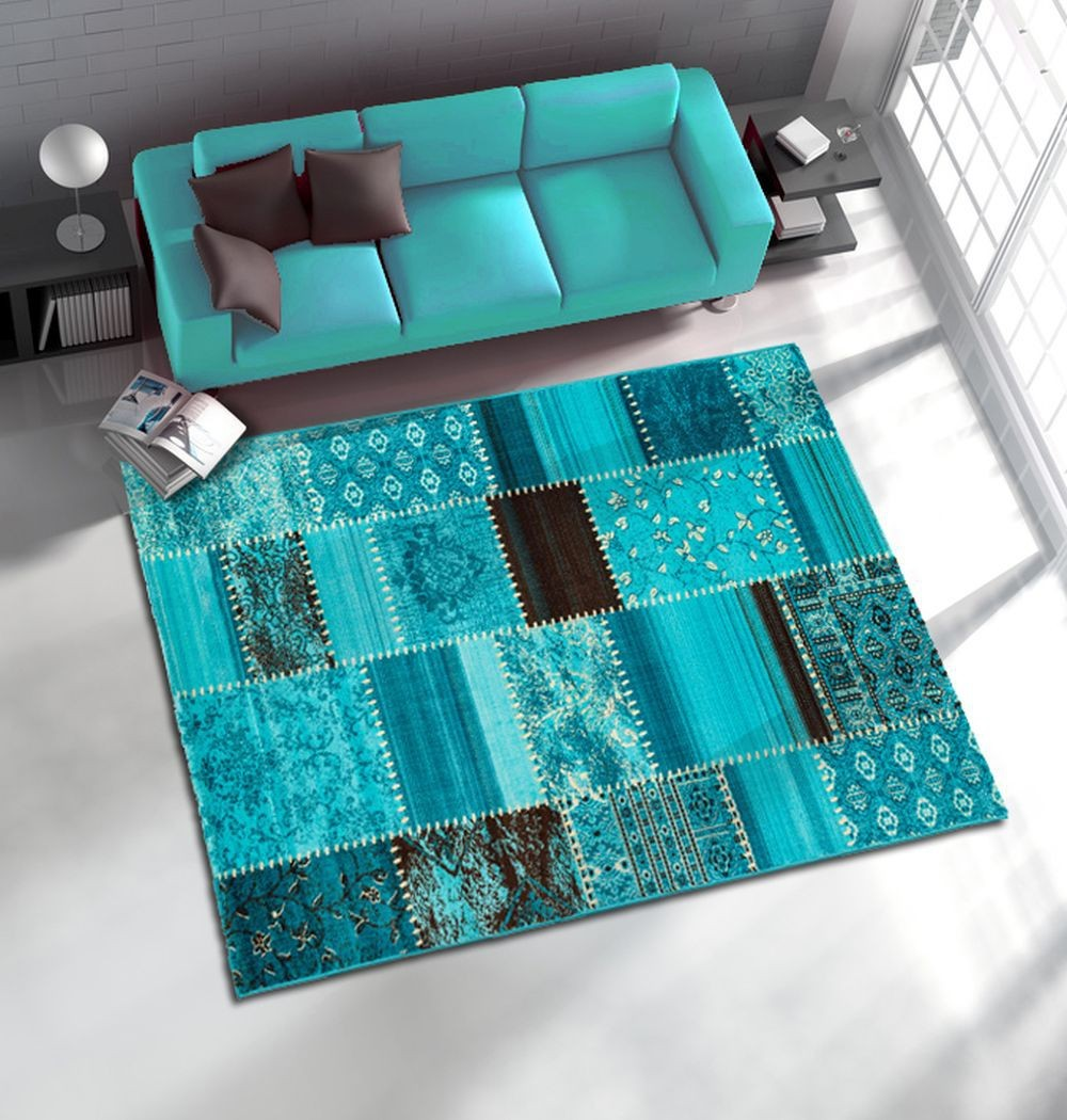 tapis salon beige et turquoise. Black Bedroom Furniture Sets. Home Design Ideas