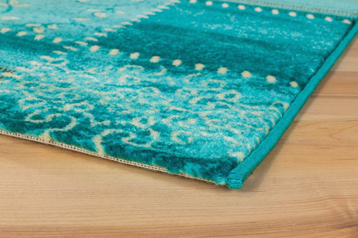 tapis pour salon blue patchwork aqua. Black Bedroom Furniture Sets. Home Design Ideas