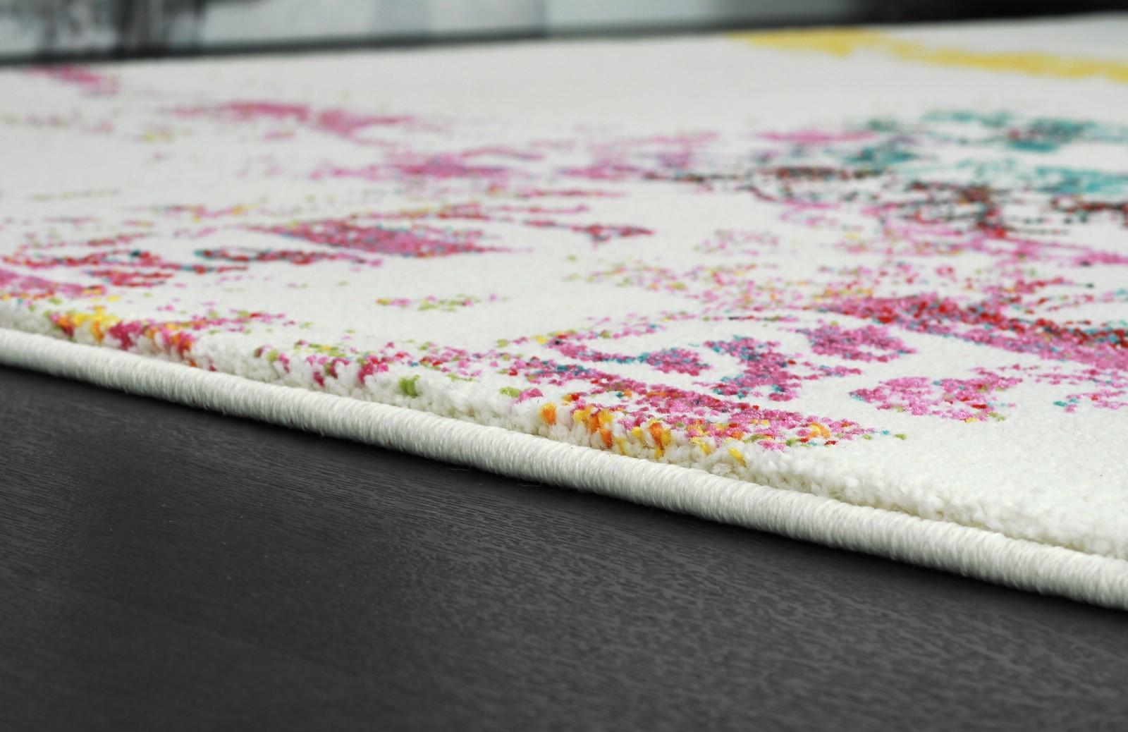 Tapis designer tissé plat décoratif 100% polypropylene BROTH -11