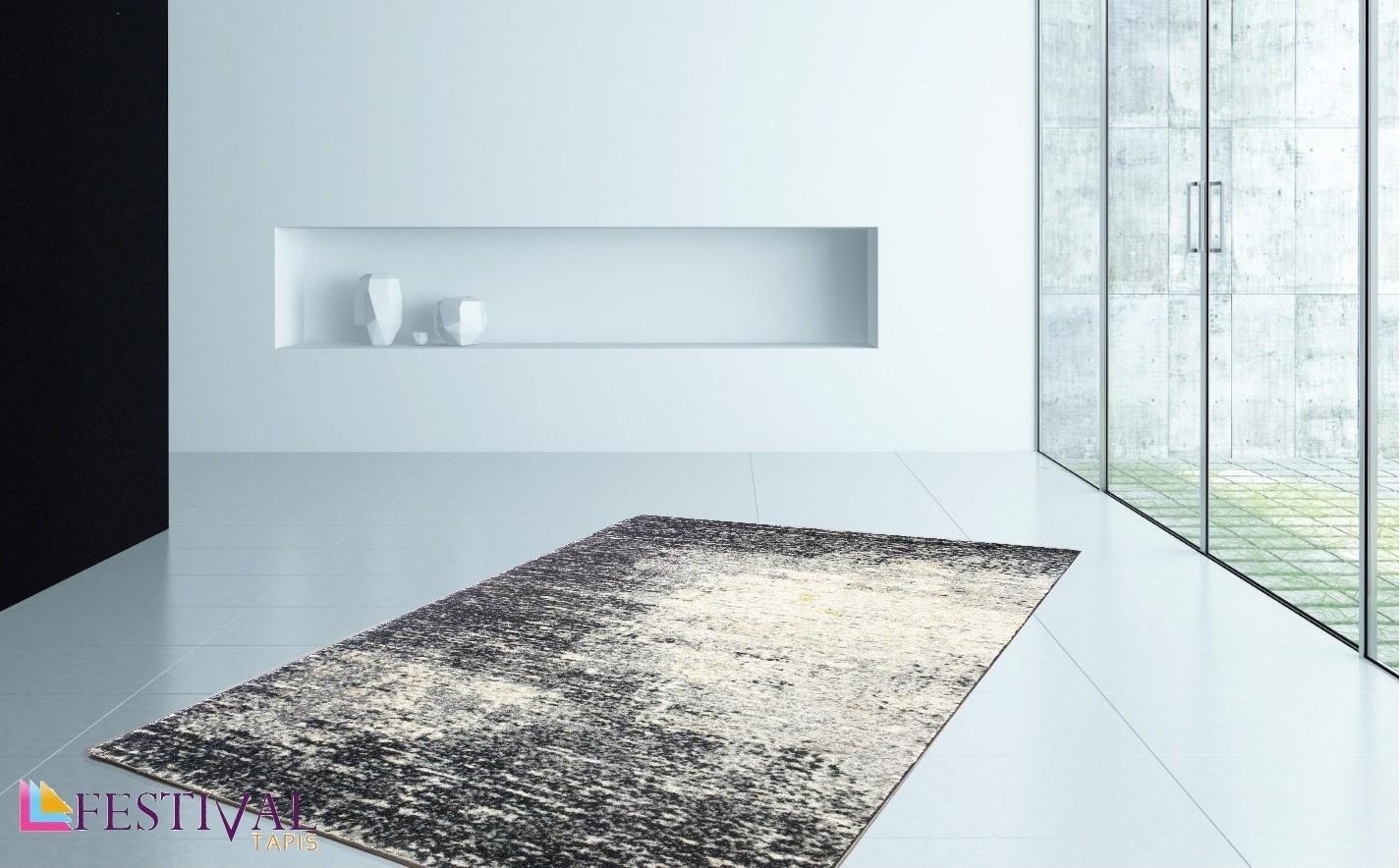 Tapis designer tisse plat decoratif 100 polypropylene for Tapis modernes italiens