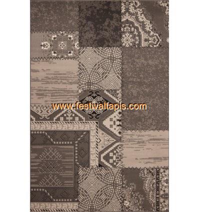 Tapis Patchwork de couleurs gris argent grand tapis pas cher, tapis grande taille pas cher, grand tapis gris pas cher, grand ta
