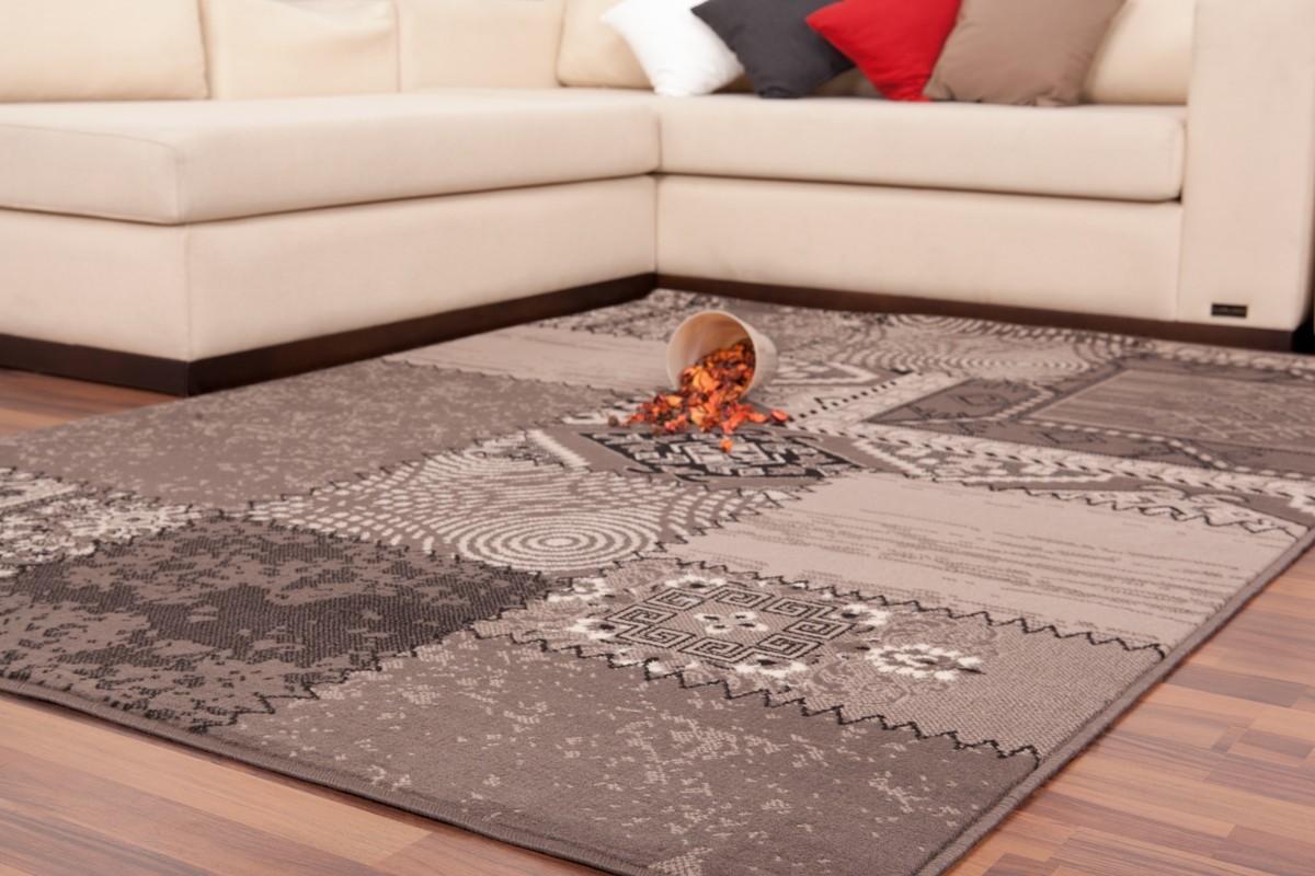 tapis patchwork de couleurs gris argent grand tapis pas cher tapis grande taille pas cher - Tapis Patchwork