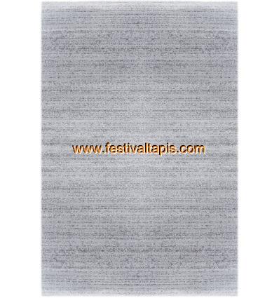 tapis 224 poils courts moderne gris clair soft universal