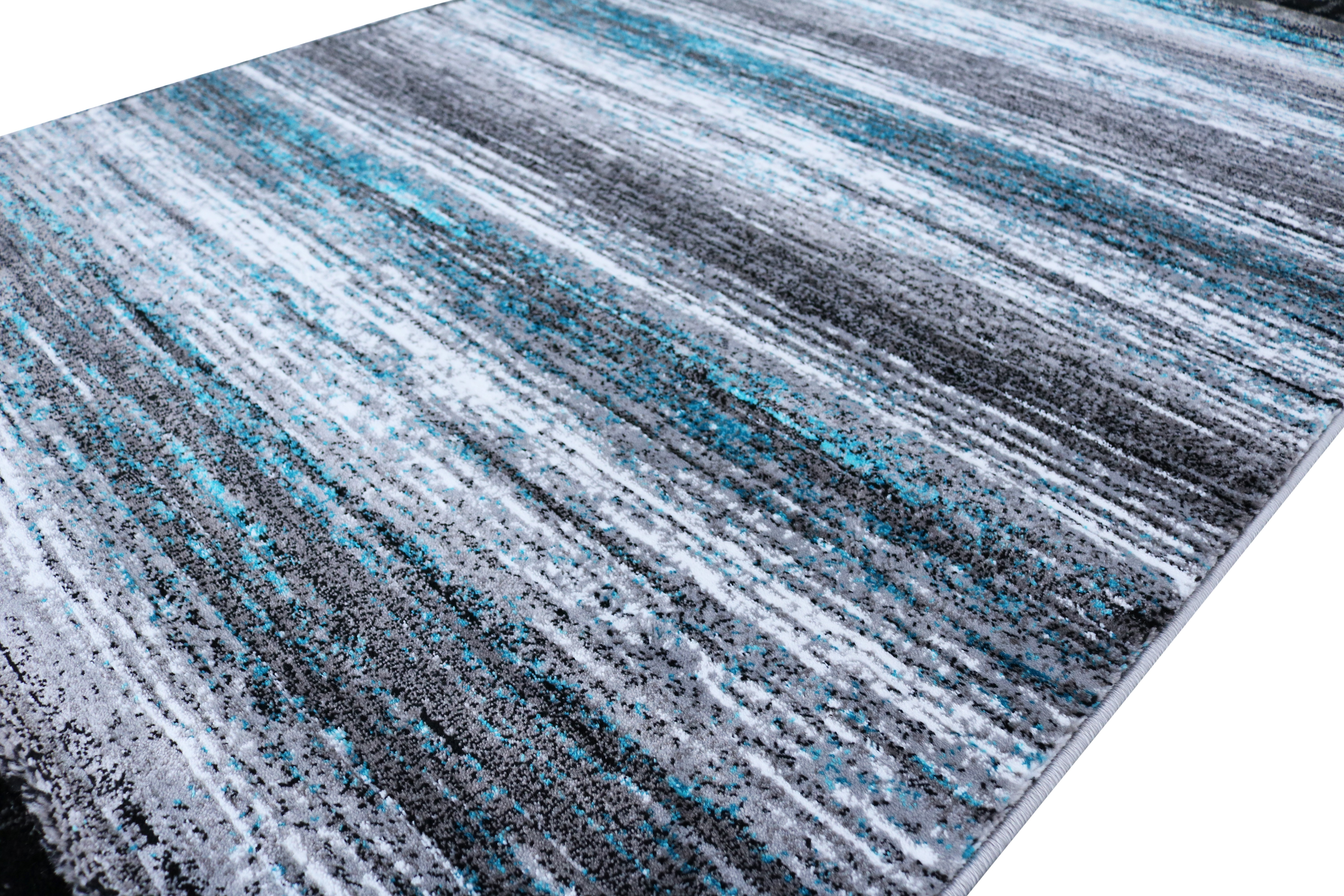tapis poils courts moderne blue et gris soft universal. Black Bedroom Furniture Sets. Home Design Ideas
