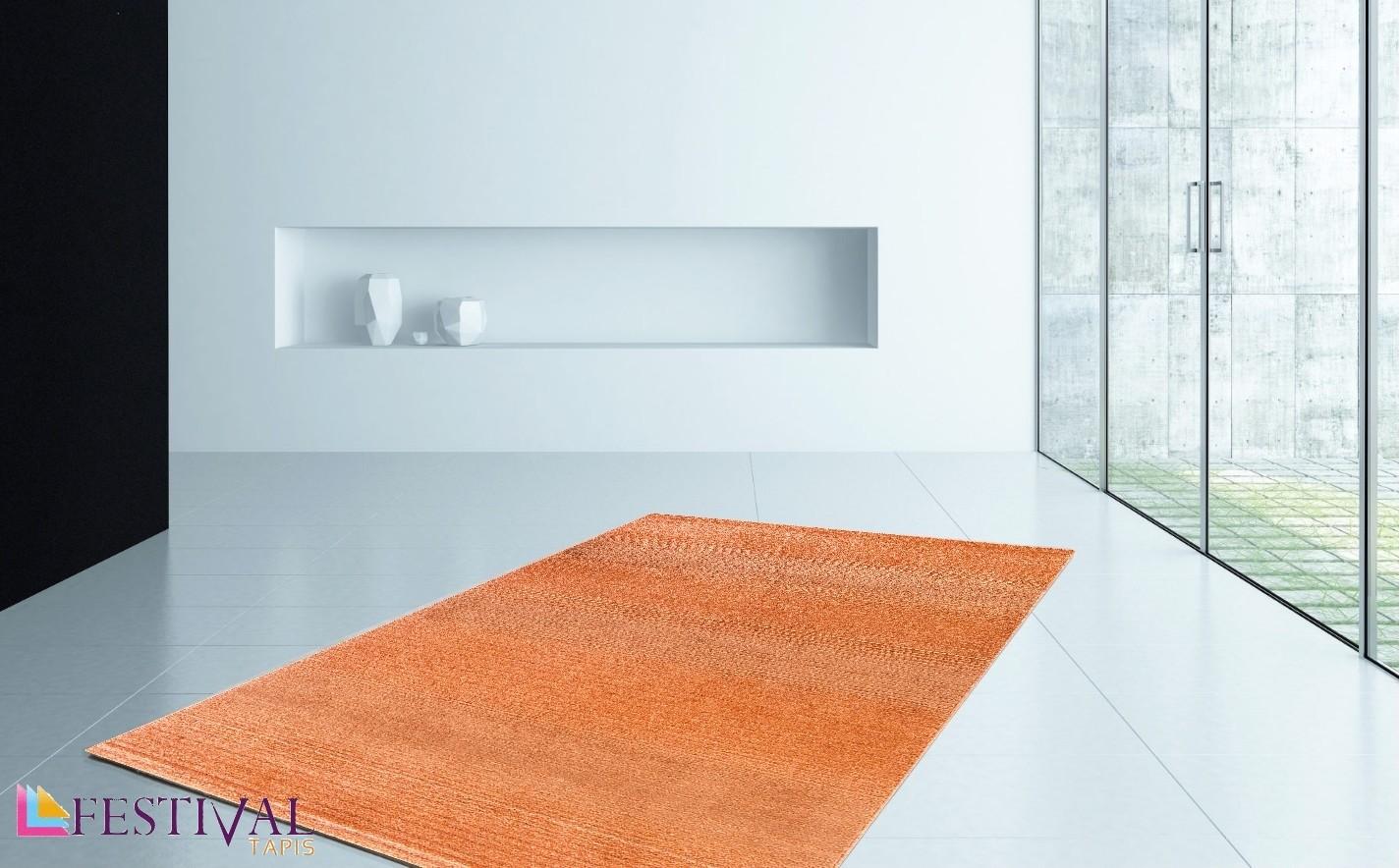 tapis uni orange longues m ches grande salon d 39 entr e. Black Bedroom Furniture Sets. Home Design Ideas