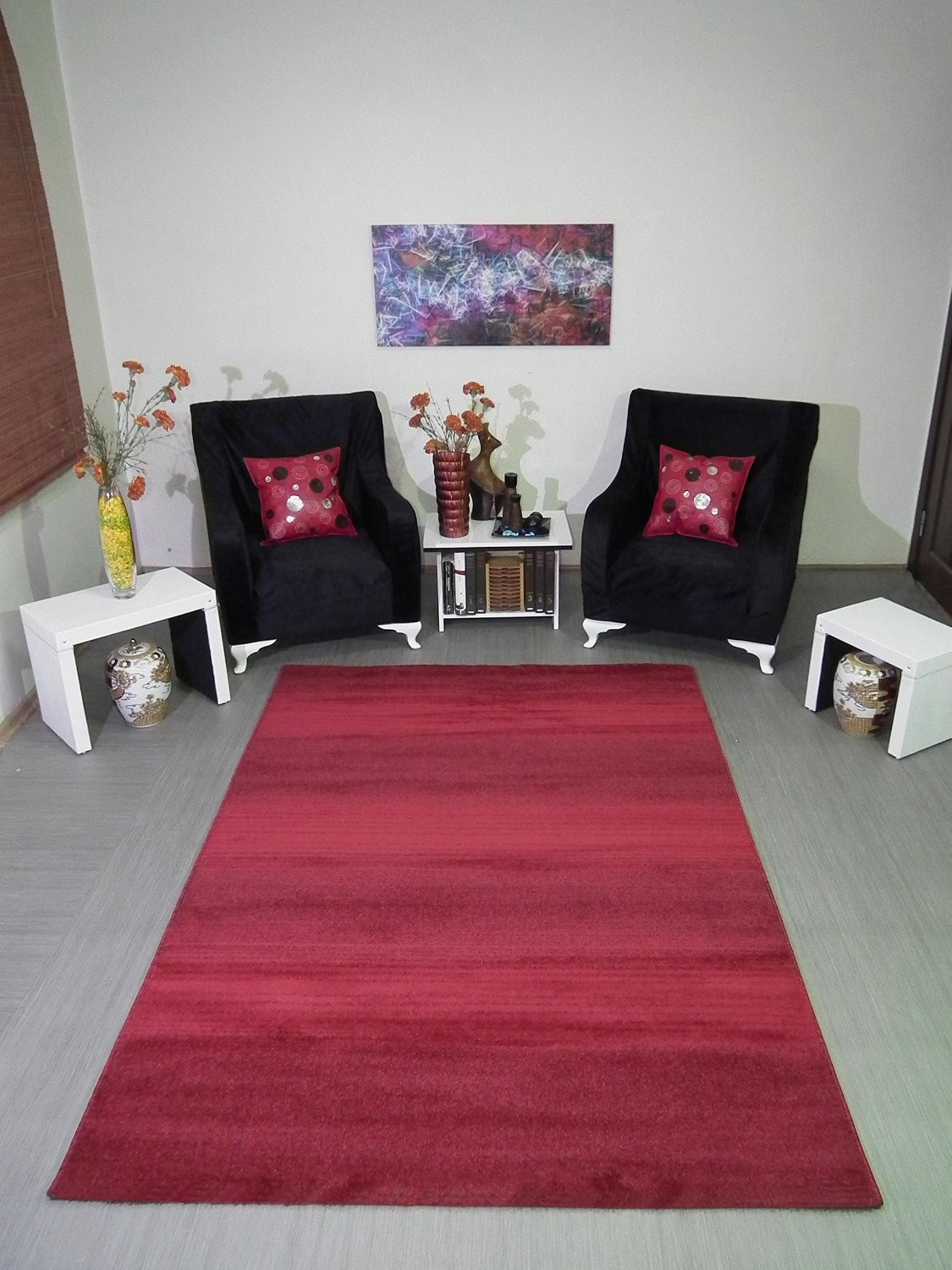 tapis uni orange longues m ches grande salon d 39 entr e couloir aspen. Black Bedroom Furniture Sets. Home Design Ideas