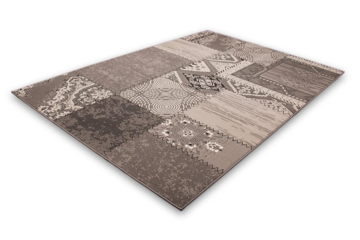 tapis patchwork de couleurs gris argent convers. Black Bedroom Furniture Sets. Home Design Ideas