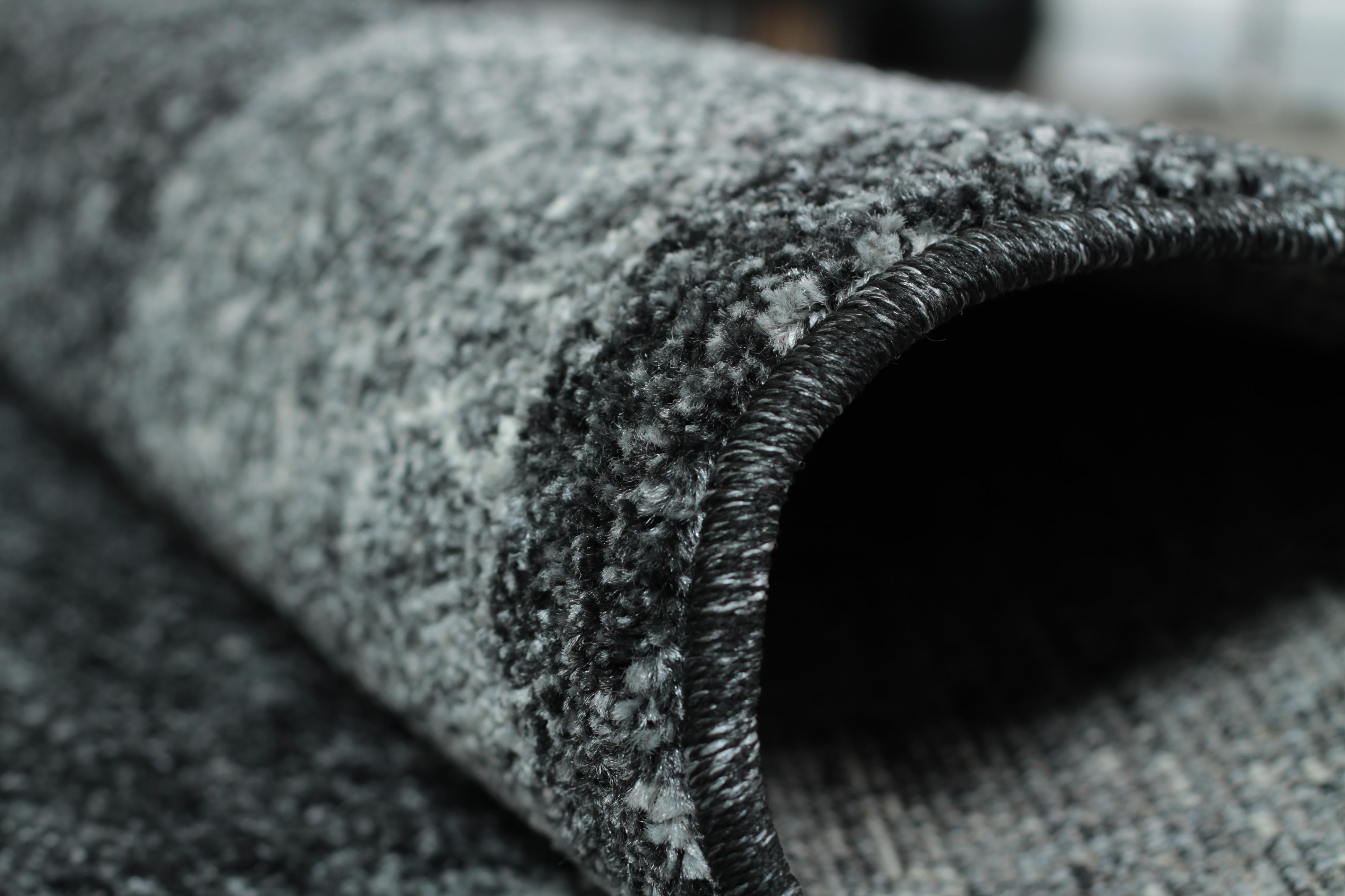 Tapis en gris look contemporain grande salon d'entrée couloir loures