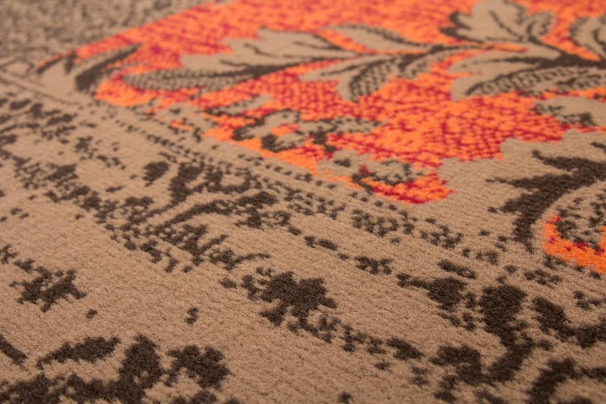 tapis orange et marron awesome tapis ethnique orange tapis laine fait a la main coloris orange. Black Bedroom Furniture Sets. Home Design Ideas