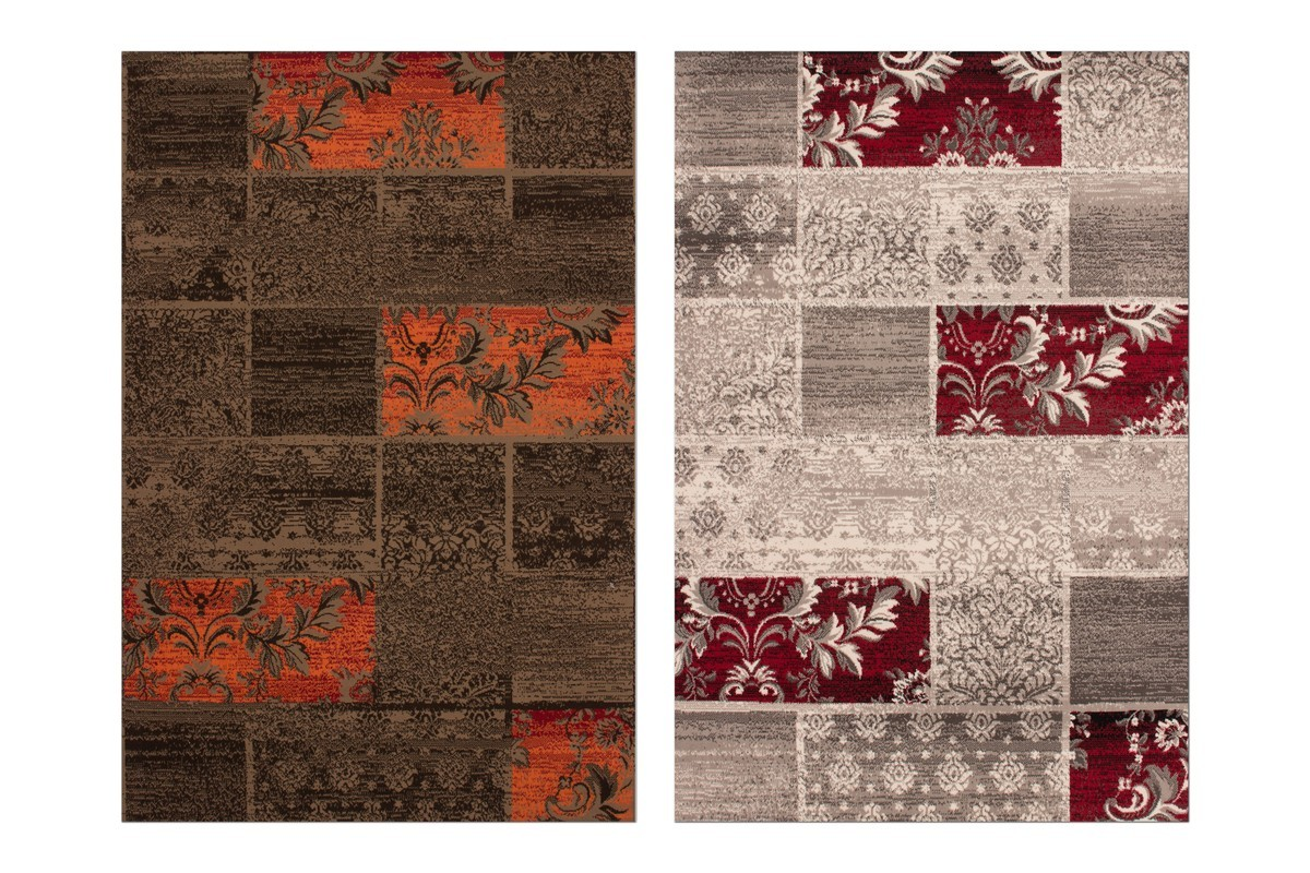Tapis Salon Orange Et Marron : Tapis patchwork affordable with