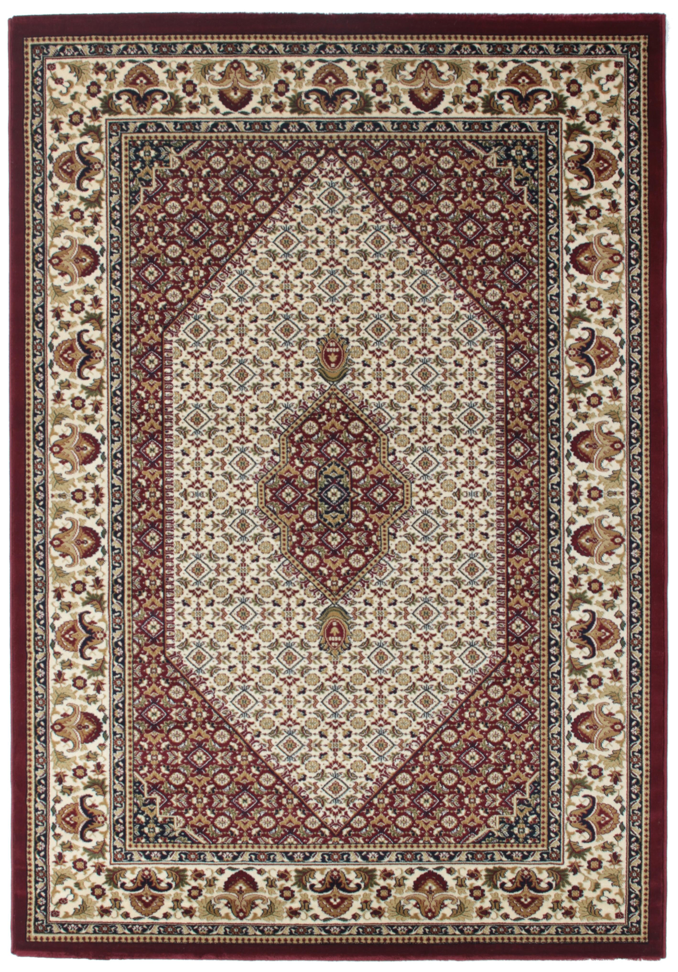 Tapis Style D Orient Rouge A Motif Geometrique En Polypropylene Gafsa 3