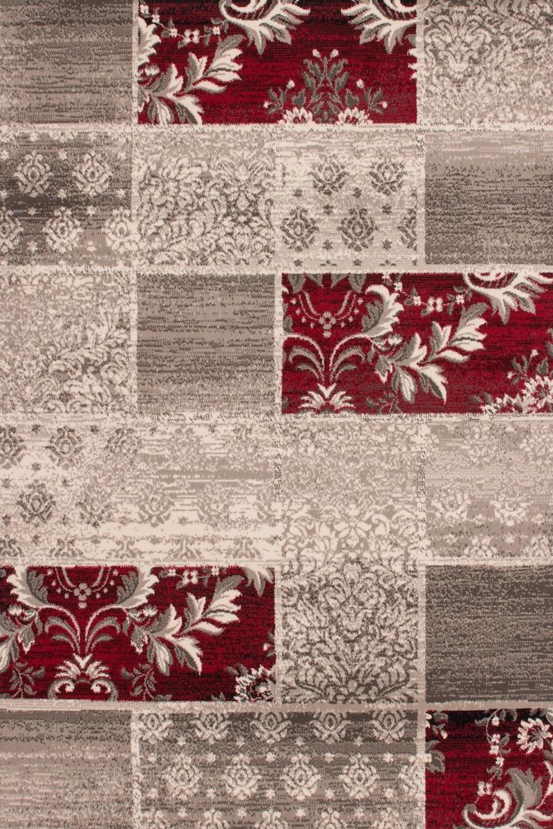 Tapis patchwork de couleurs beige et rouge convers - Tapis 200x140 ...