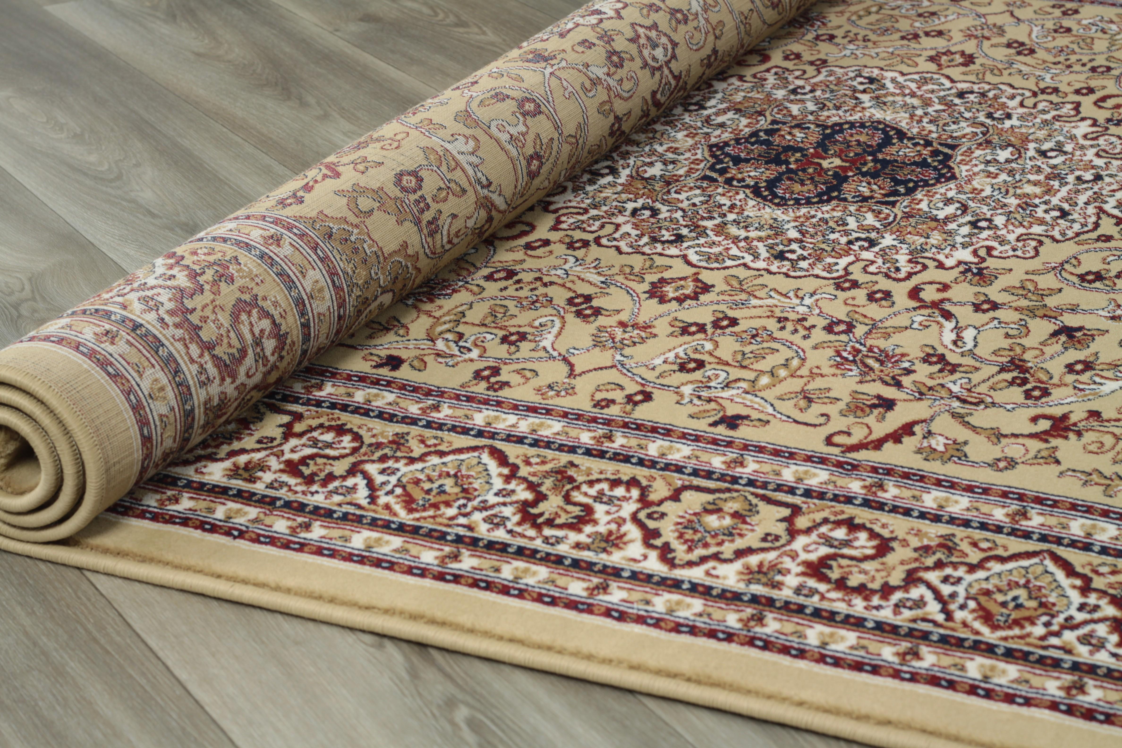 tapis style d 39 orient cr me beige motif g om trique en polypropyl ne gafsa 5. Black Bedroom Furniture Sets. Home Design Ideas