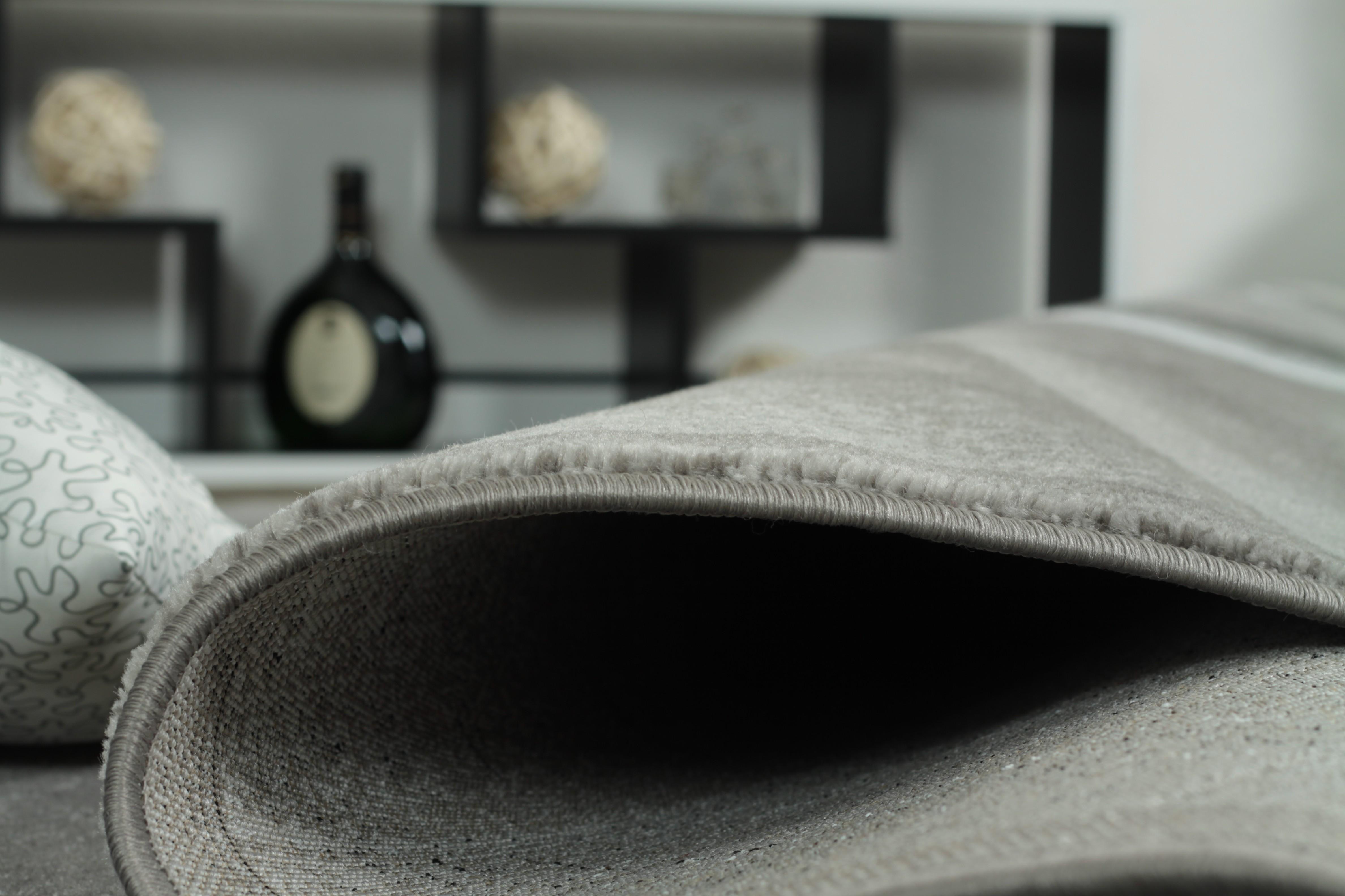 Tapis de salon design rectangulaire à courtes mèches gris tenor 5