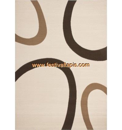 Tapis contemporain de couleur beige, marron grand tapis pas cher, tapis grande taille pas cher, grand tapis gris pas cher, grand