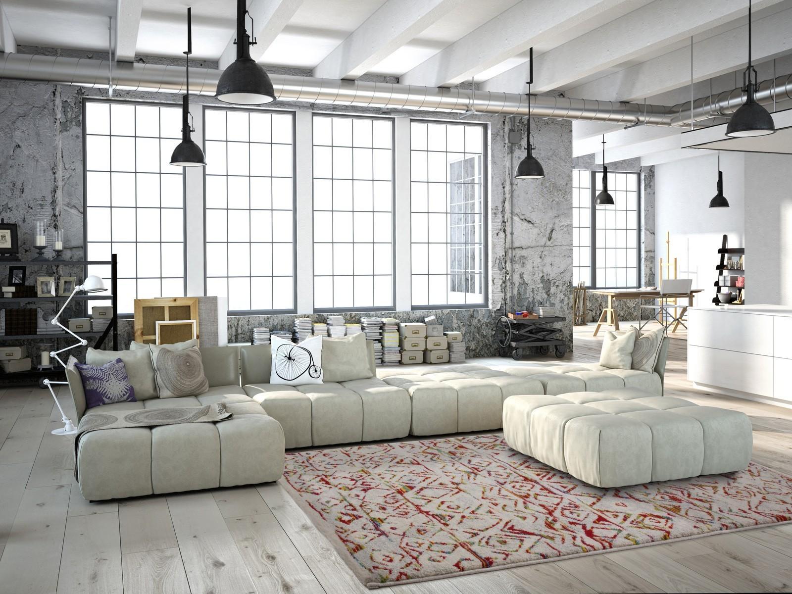 Tapis salon design vintage synthétique tissé doux et durable davina 3