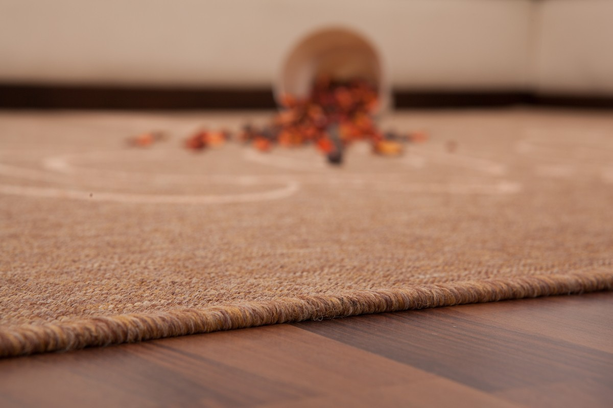 tapis plat effet sisal motif caf coloris caramel fabio. Black Bedroom Furniture Sets. Home Design Ideas
