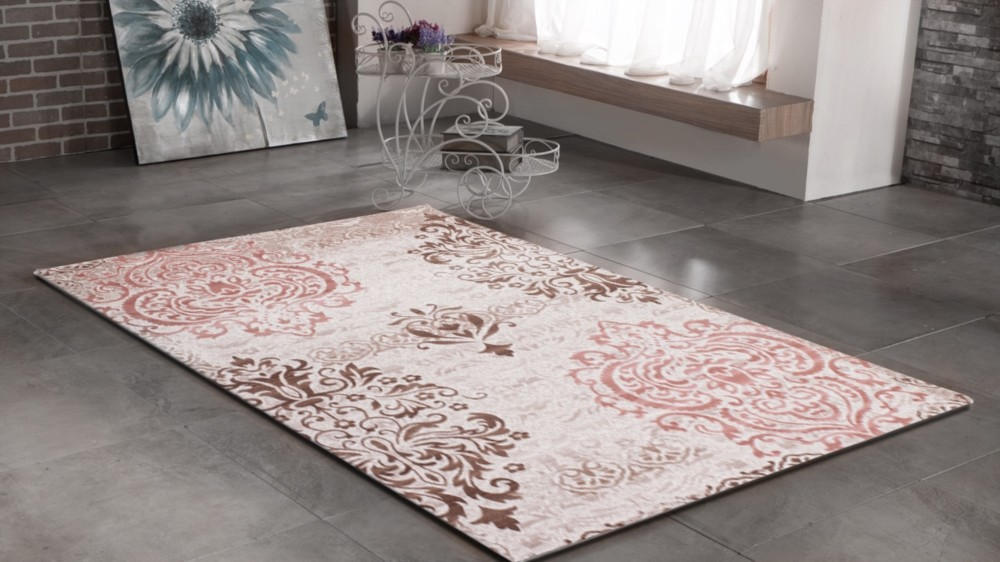 Tapis gris noir design contemporain firenze 4 Tapis salon prune