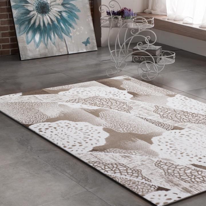 tapis beige marron design contemporain firenze 6. Black Bedroom Furniture Sets. Home Design Ideas