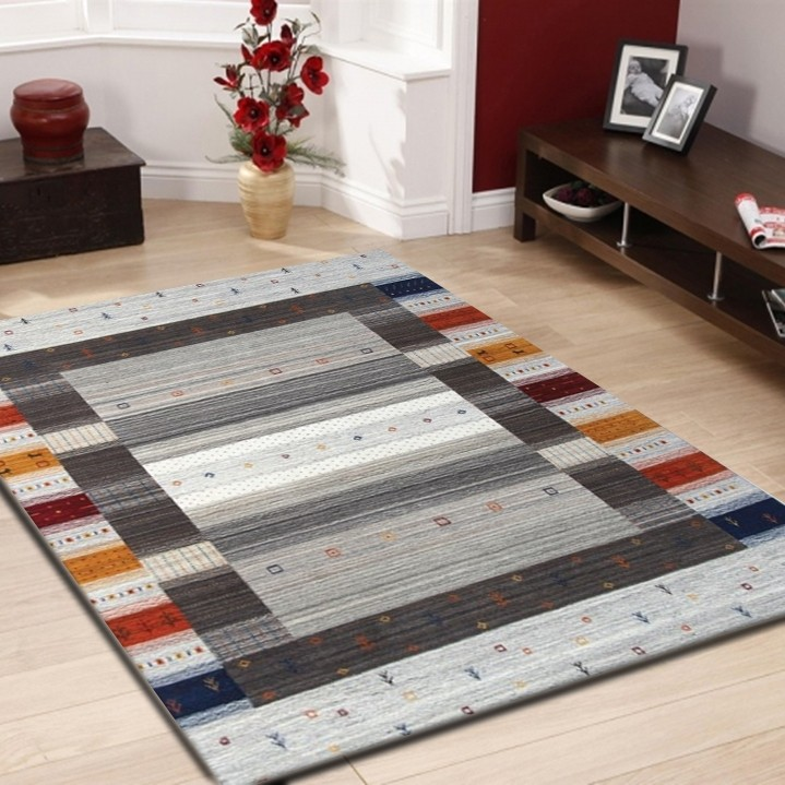 tapis 100 laine fait la main naturel coloris gris mikado 3. Black Bedroom Furniture Sets. Home Design Ideas