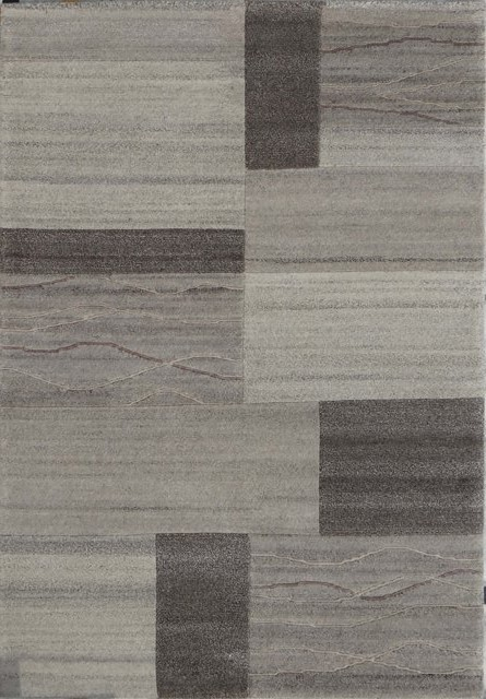 Tapis Salon Design Tuftee Main 100 Laine Naturel Gris Santana 5