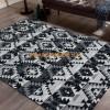 Tapis Design tendance tapis patchwork pas cher noir TIVOLI