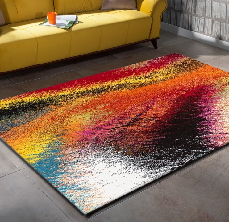 Tapis design pour salon moderne multicolore south pas cher for Tapis pas cher pour salon