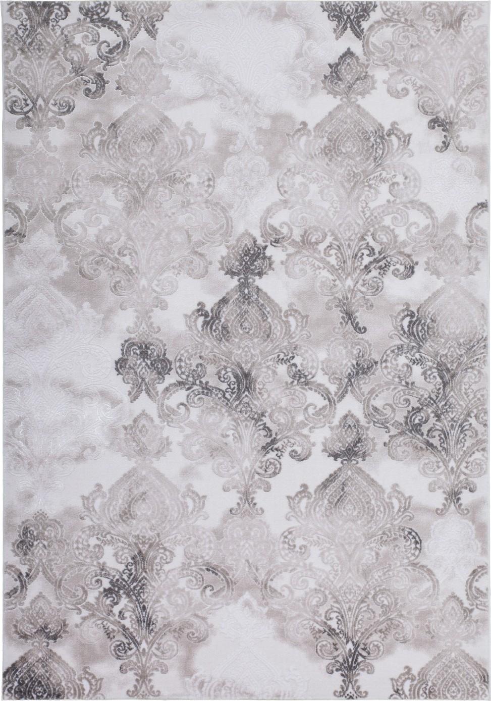 Tapis de salle à manger, salon design gris avec effet 3D INDILA pas cher