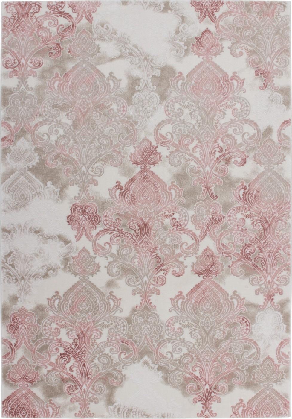Tapis de salle manger salon design lila rose avec effet for Tapis de cuisine rose et gris