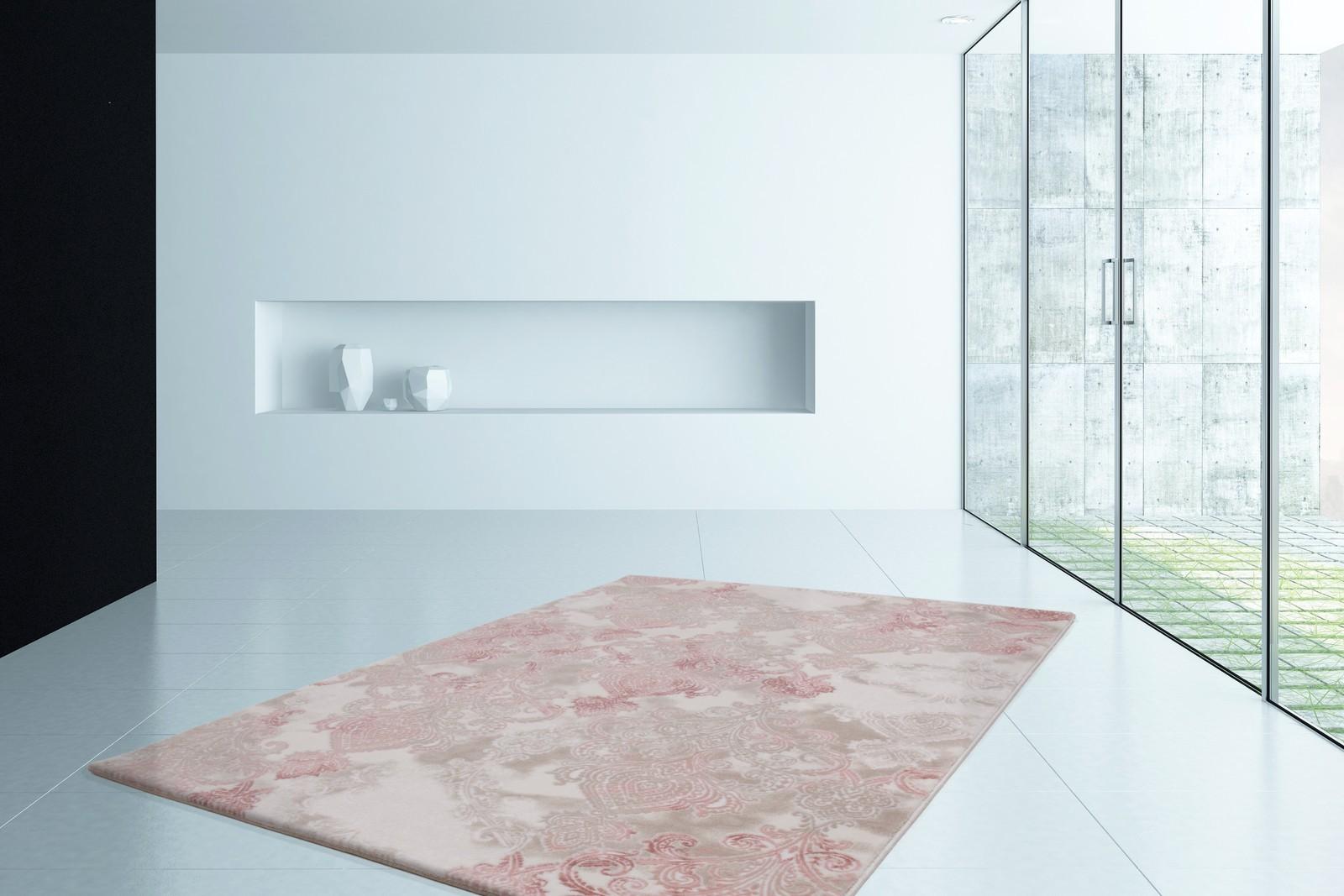 Tapis de salle à manger, salon design lila rose avec effet 3D INDILA ...