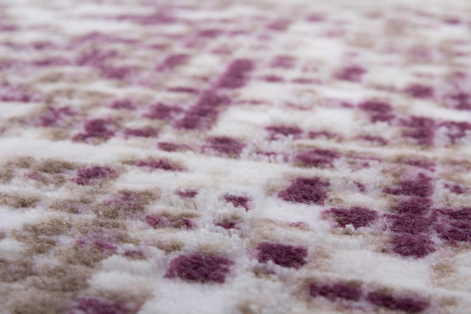 Tapis de salle à manger, salon design lila violette avec effet 3D ...