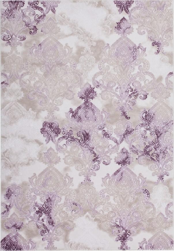 Tapis de salle à manger, salon design lila violette avec effet 3D INDILA-12