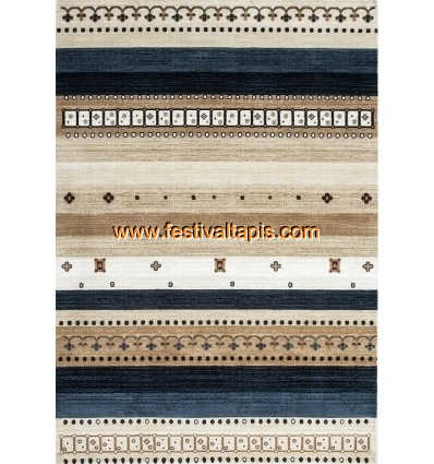 Tapis Optic Cosy Blanc, benuta, Fibres synthétiques, Vintage / Patchwork, Rectangulaire, Shabby Chic, Style Patchwork & Vintage,