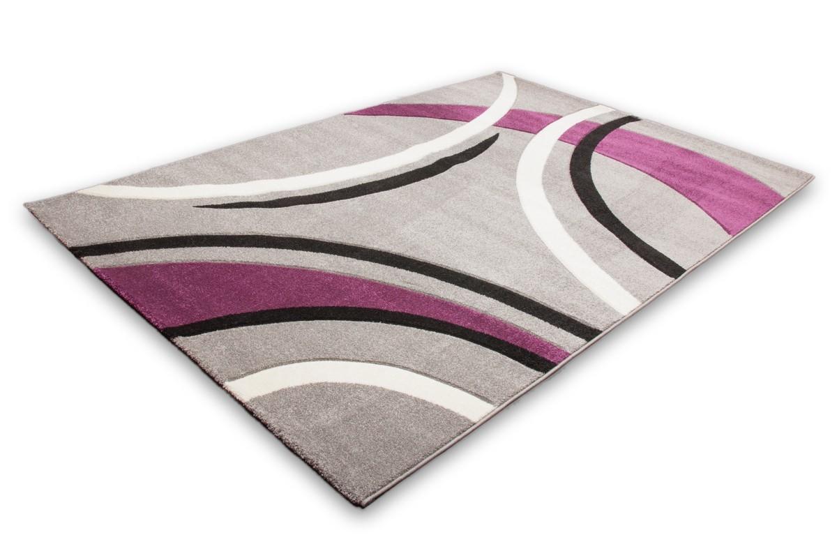 Tapis ivoire design en heatset friss effet 3d helvet for Tapis de cuisine gris design
