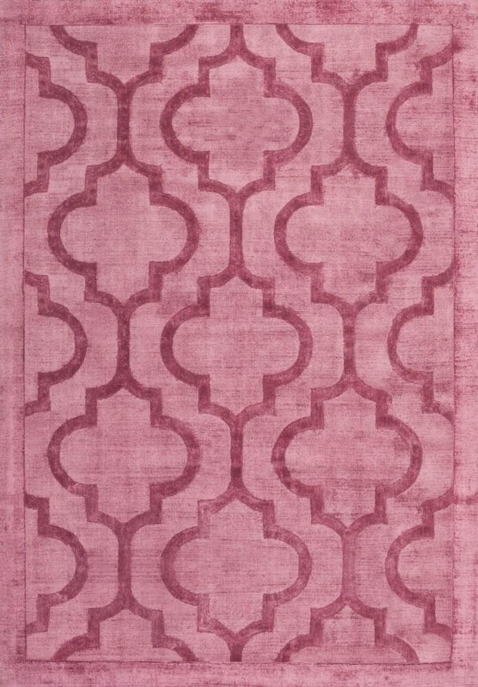 tapis effet vintage rose en viscose tiss main kruger pas cher. Black Bedroom Furniture Sets. Home Design Ideas