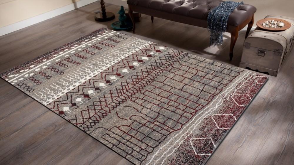 tapis en polypropyl ne contemporain d 39 int rieur couleur beige et marron wood. Black Bedroom Furniture Sets. Home Design Ideas