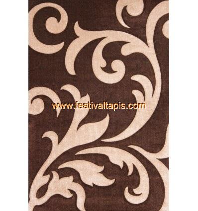 Tapis effet 3D design coloris brun et beige tapis pour salon, tapis salon design, tapis pour salon pas cher, tapis moderne salon