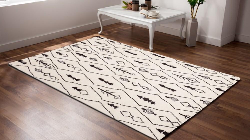 tapis en polypropyl ne contemporain d 39 int rieur couleur crem wood. Black Bedroom Furniture Sets. Home Design Ideas